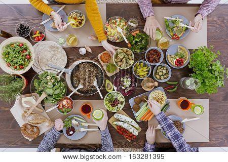People Having Veg Meal