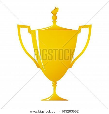 Cup of winner ,gold trophy cup on white background