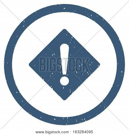 Error Rhombus rubber seal stamp watermark. Icon vector symbol with grunge design and unclean texture. Scratched blue ink emblem on a white background.