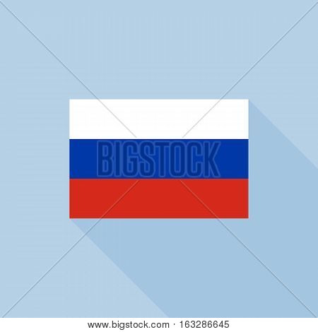 Russia flag , flat design vector with official proportion