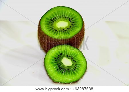 kiwi. Bright, green kiwi, very tasty, pleasant to the taste. Always decorate the holiday table.