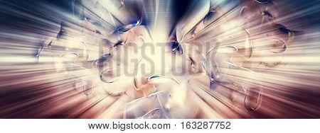Shortly after the big bang 3D Illustration