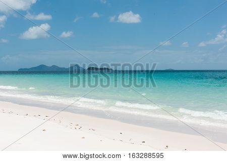Whitehaven Beach, a 7 km stretch along Whitsunday Island in Queensland, Australia