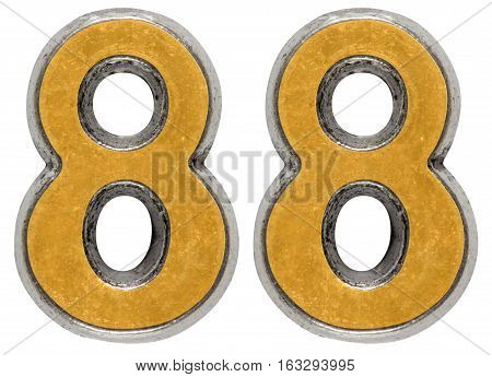 Metal numeral 88 eighty-eight isolated on white background