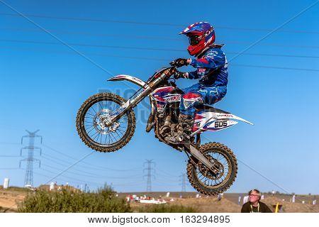 Gdansk, Poland - September 11 : Undefined Rider On Polish Motocross Championship Poland, Gdansk 11 S