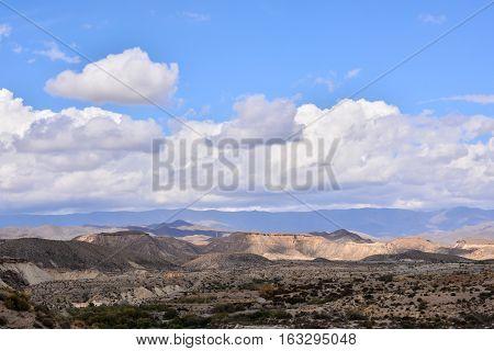 Desert Tabernas In Almeria Province Spain
