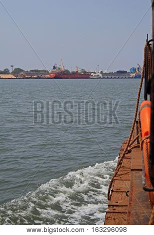 Harbour Of Kochi Port From The Side Of A Ship