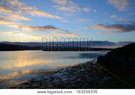 Gorgeous look at clouds reflecting in the loch at Dunvegan.