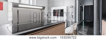 Kitchen Worktop With Induction Hob