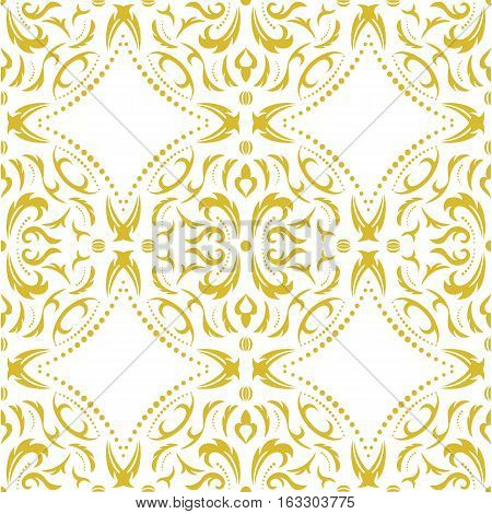 Damask seamless classic pattern. Vintage Baroque delicate background. Classic damask ornament for wallpapers textile fabric wrapping wedding invitation.
