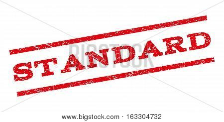 Standard watermark stamp. Text tag between parallel lines with grunge design style. Rubber seal stamp with scratched texture. Vector red color ink imprint on a white background.
