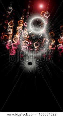 Futuristic Abstract Square Background Design With Light
