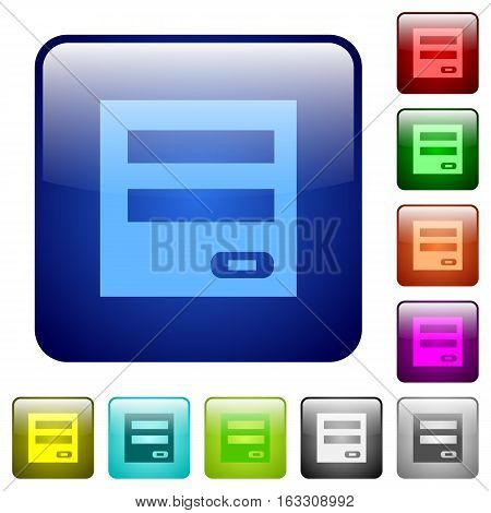 Login panel icons in rounded square color glossy button set
