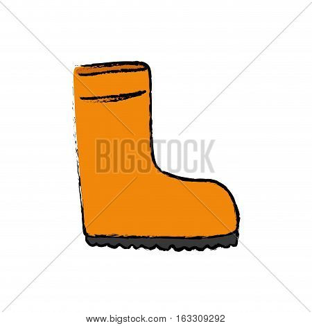 Isolated industry boot icon vector illustration graphic design
