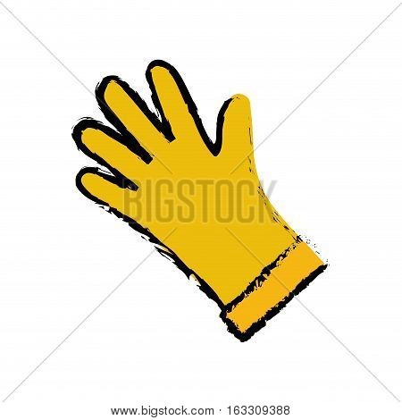 Industrial glove isolated icon vector illustration graphic design