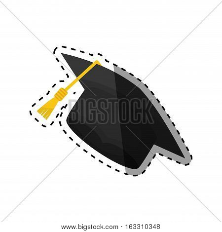 Isolated graduation hat icon vector illustration graphic design