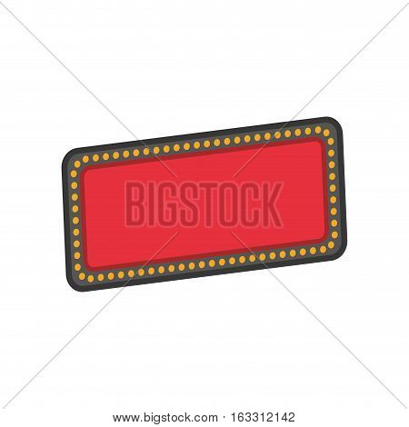 Advertising with leds icon vector illustration graphic design