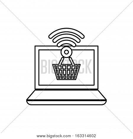 Buy online digital marketing icon vector illustration graphic design