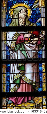 Stained Glass - Saint Teresa Of Avila