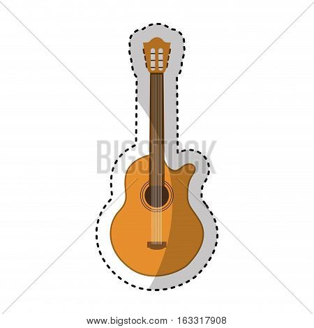 acoustic guitar instrument icon vector illustration design