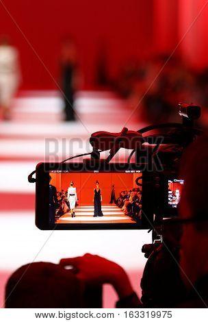 Televison Camera Broadcasting A Fashion Show