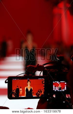 Televison Camera Broadcasting A Fashion Show