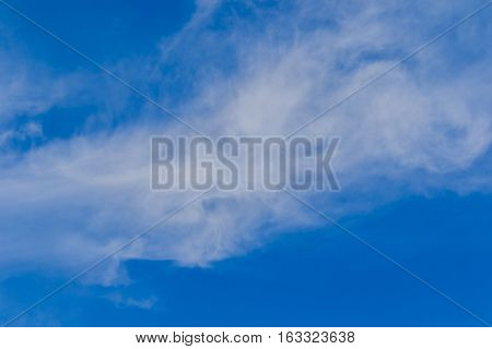 Natural Blue sky background with tiny clouds.