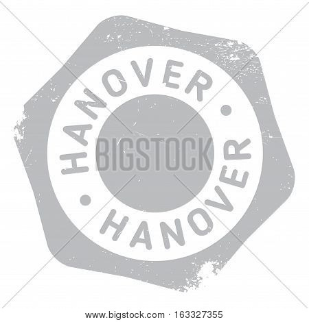 Hanover stamp. Grunge design with dust scratches. Effects can be easily removed for a clean, crisp look. Color is easily changed.