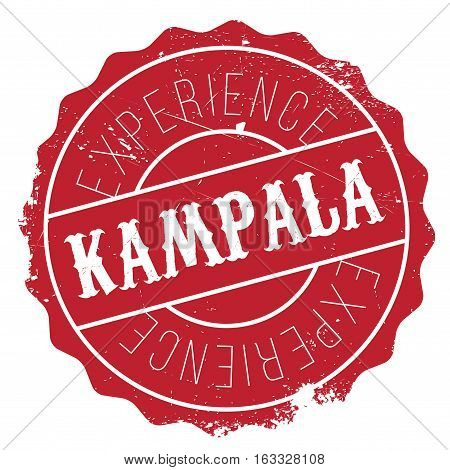 Kampala stamp. Grunge design with dust scratches. Effects can be easily removed for a clean, crisp look. Color is easily changed.