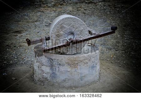 The old fashion of millstone in China
