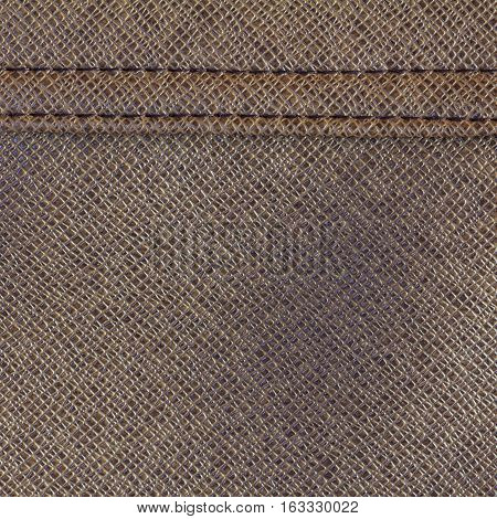 Brown leather texture background for design with copy space for text or image.