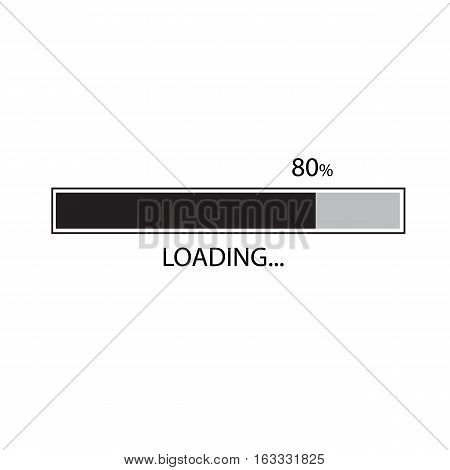 Loading bar icon on white background. Loading bar icon sign.