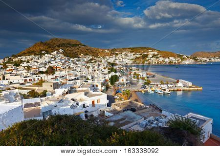 SKALA, GREECE - DECEMBER 12, 2016: Patmos island in Dodecanse archipelago in eastern Aegean on December 12, 2016.