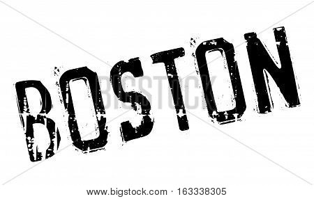 Boston stamp. Grunge design with dust scratches. Effects can be easily removed for a clean, crisp look. Color is easily changed.