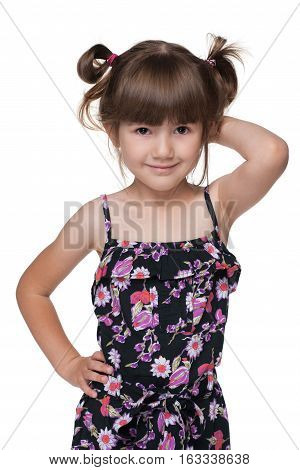 Cheerful Fashion Little Girl