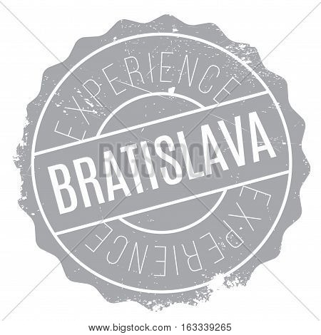 Bratislava stamp. Grunge design with dust scratches. Effects can be easily removed for a clean, crisp look. Color is easily changed.