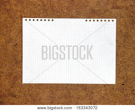 Piece Of Paper Element  Laid Out On Cardboard