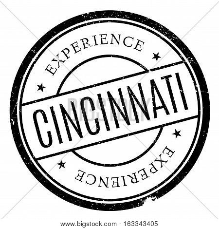 Cincinnati stamp. Grunge design with dust scratches. Effects can be easily removed for a clean, crisp look. Color is easily changed.