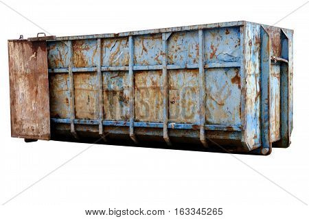 large garbage container isolated on white background