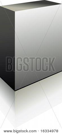 Vektor grau perfekte 3d Boxen mit Reflektion