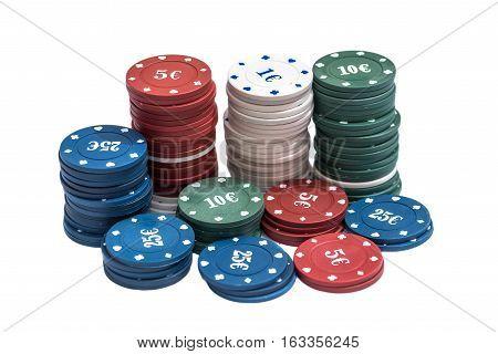 poker chips isolated isolated on white background