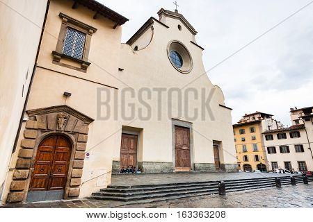 Facade Of Basilica Di Santo Spirito In Florence