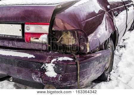 Damaged car, car after an accident, traffic accident, crash car