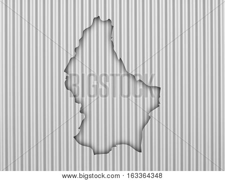 Map Of Luxembourg On Corrugated Iron