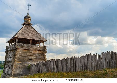 Fortified settlement Ukrainian Cossacks 16-18 centuries in Khortisya