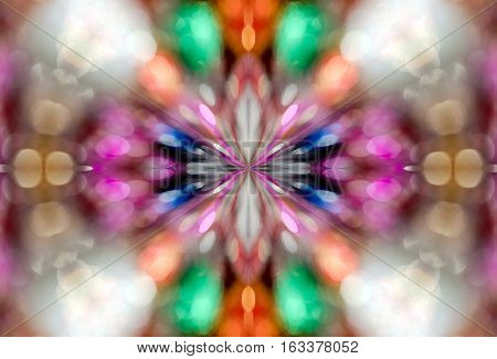 kaleidoscope effect - abstract background or texture
