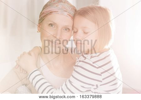 Cancer Woman Having Family Support