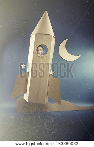 Spaceflight In Paper Rocket