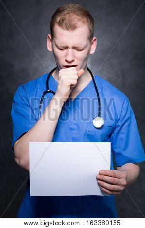 Young Doctor With Cough