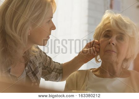 Woman Checking Body Temperature